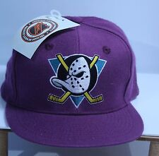 Anaheim Mighty Ducks NHL Snapback Baseball Hat Hockey Cap Plum NWT Wool xfht028