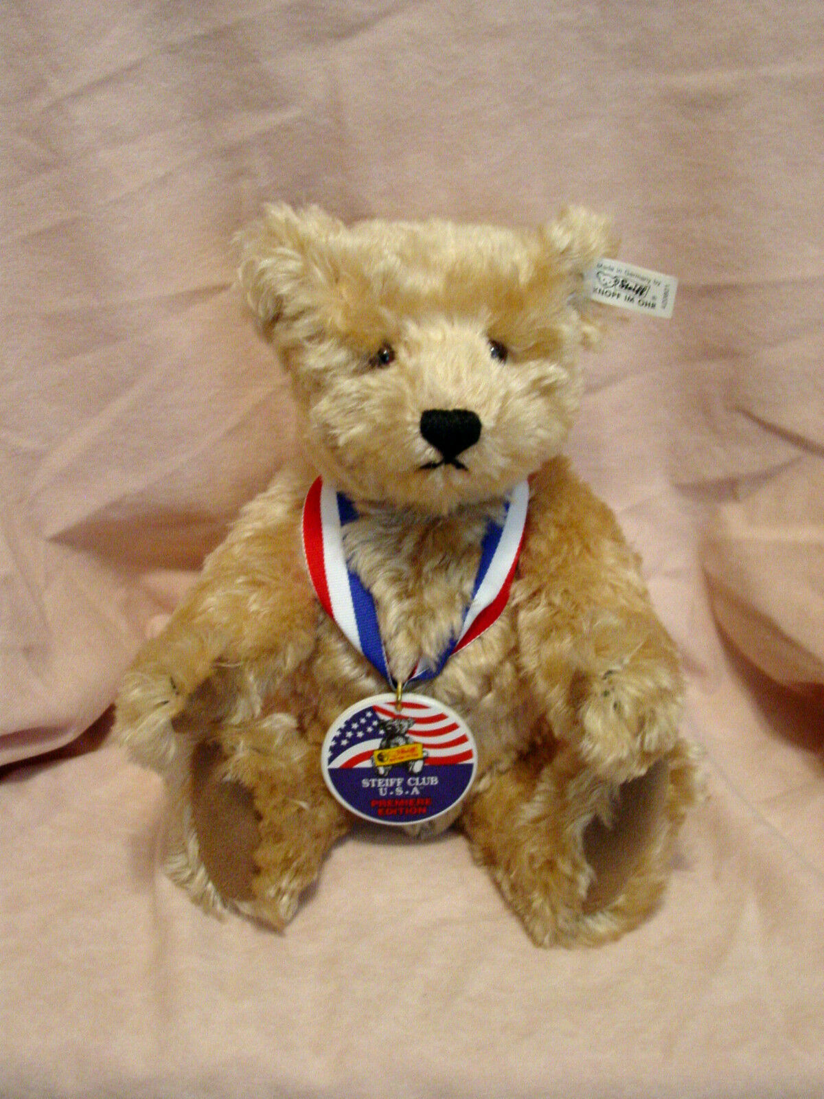Steiff -  Sam  Teddy Bear - Steiff USA Premiere Club Teddy Bear from 1993