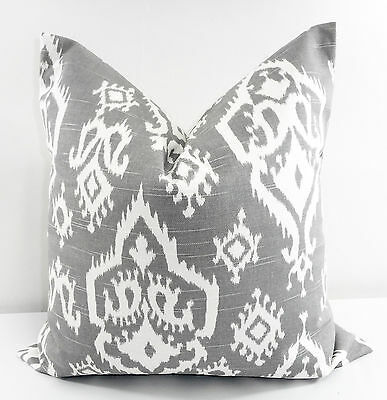 Grey  Pillow Cover Ash Grey /& white Cotton.Made in USA.Select size Raji