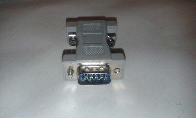 2 X 9 Pin Maschio A 9 Pin Maschio Seriale Modem Adattatore Contatti Nichel Lavoro Lotto #vid42- Altamente Lucido
