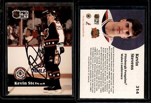 Kevin Stevens #314 signed autograph auto 1991-92 Pro Set Hockey Trading Card