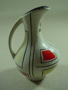 Handbemalte-Keramikvase-50er-Jahre-Vase-Maeser-Josef-Dornbirn-Blumenvase