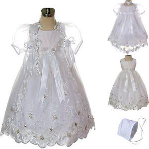 437c8ad10b Image is loading New-Infant-Baby-Toddler-Girl-White-Christening-Baptism-