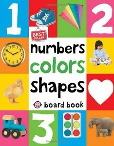 First 100 Numbers Color Shape Board Book Learning Child Kids Bright ...