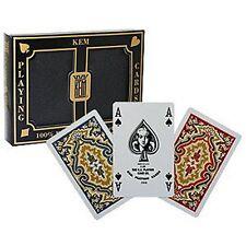 Kem-POKER SIZE DECK (2-Deck Set) - 4 pips poker carte da gioco