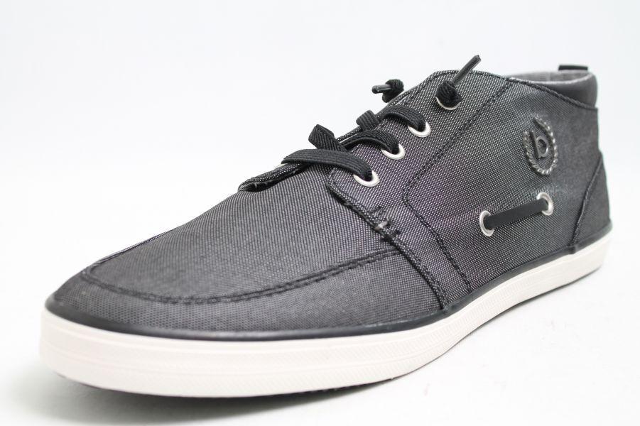 Bugatti Schuhe schwarz Textil Bootsoptik Scarpe da uomo classiche economiche e belle
