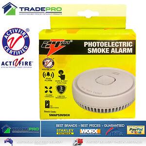 Smoke Alarm Fire Detector Photoelectric Australian Standard with 9V Battery 24m®