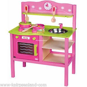 Spielküche Kinderküche Rosa Kinder Holz Küche Holzküche ...