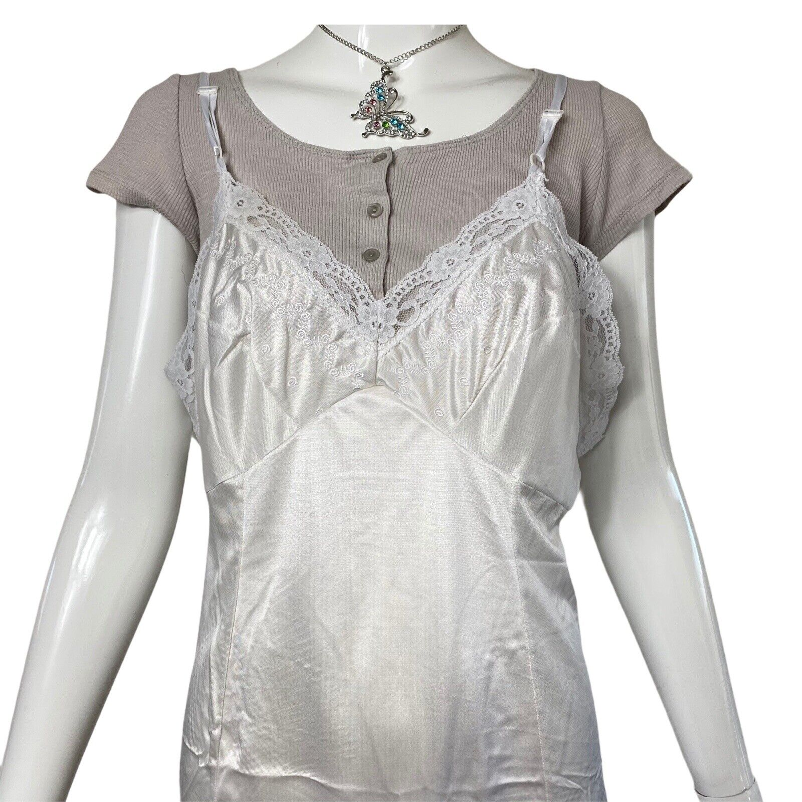 Fairycore Grunge Ribbed Crop Top Y2k 90s Aesthetic - image 6