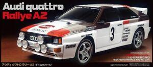 Tamiya 58667 Audi Quattro A2 4x4 Tt-02 Rc Kit-deal Bundle Avec Twin Stick-afficher Le Titre D'origine