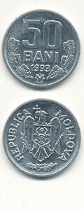 Moldova-Moldova-50-Bani-1993-UNC-Aluminum-RARE