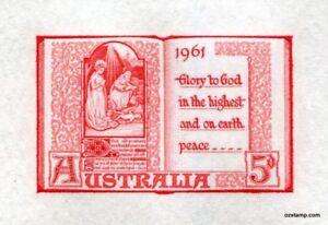 Australia-Replica-Card-19-Christmas-1961-Die-Proof