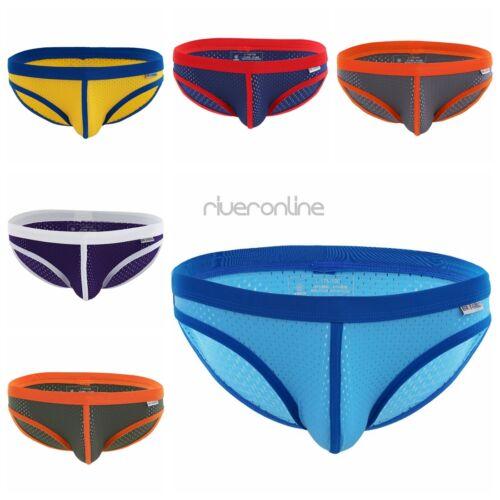 Mens Mesh Breathable Underwear Boxer Briefs Shorts Bikini Swimwear Underpants