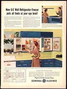 1956-GE-General-Electric-Wall-Refrigerator-Freezer-AD-Vintage-Retro-Kitchen