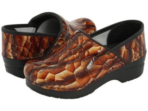 Dansko Professional Marrón Bronceado Bronceado Bronceado Tigres Ojo Charol Zuecos Zapatos 37 US 6.5 7  costo real