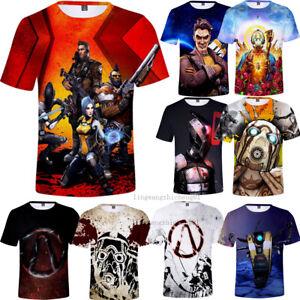 Games-Borderlands-3-Full-Print-Unisex-T-shirt-Men-039-s-Soft-Short-Sleeve-Tops-Tee