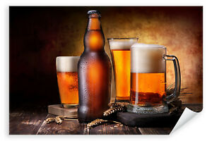 Postereck-Poster-2769-Bier-Hopfen-Alkohol-Glaeser-Krug-Flasche-Bar-Kneipe