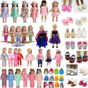 Handmade-Doll-Clothes-Dress-Pajama-Shoes-Bag-Accessory-for-18-034-Inch-American-Girl