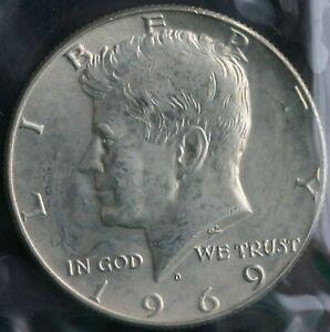 1969 D Kennedy Half Dollar *40/% SILVER* Free Shipping