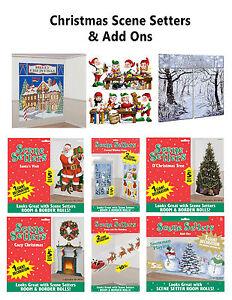 CHRISTMAS-SCENE-SETTERS-Santa-Snowman-Christmas-Tree-Winter-Wonderland