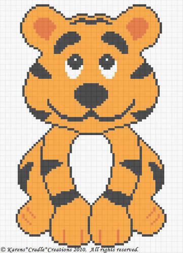 Patrones de ganchillo-Tiger Cub Baby gráfico patrón afgano