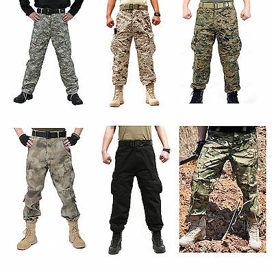 High Quanlity Mens Military Army Cargo Combat Camo Camouflage Work Pants Trouser