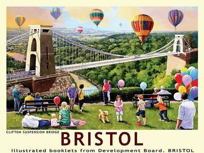 Bristol Clifton Suspension Bridge Railway Poster métal signe train rail Travel