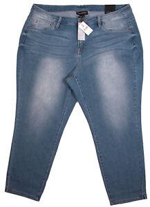 0fbe2e2ae7bbf Image is loading Lane-Bryant-Womens-Capri-Jeans-20-Skinny-Distressed-