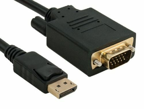 28AWG Cable Gold Connectors 3Ft 15-Pin Displayport Male to VGA Male 15Ft