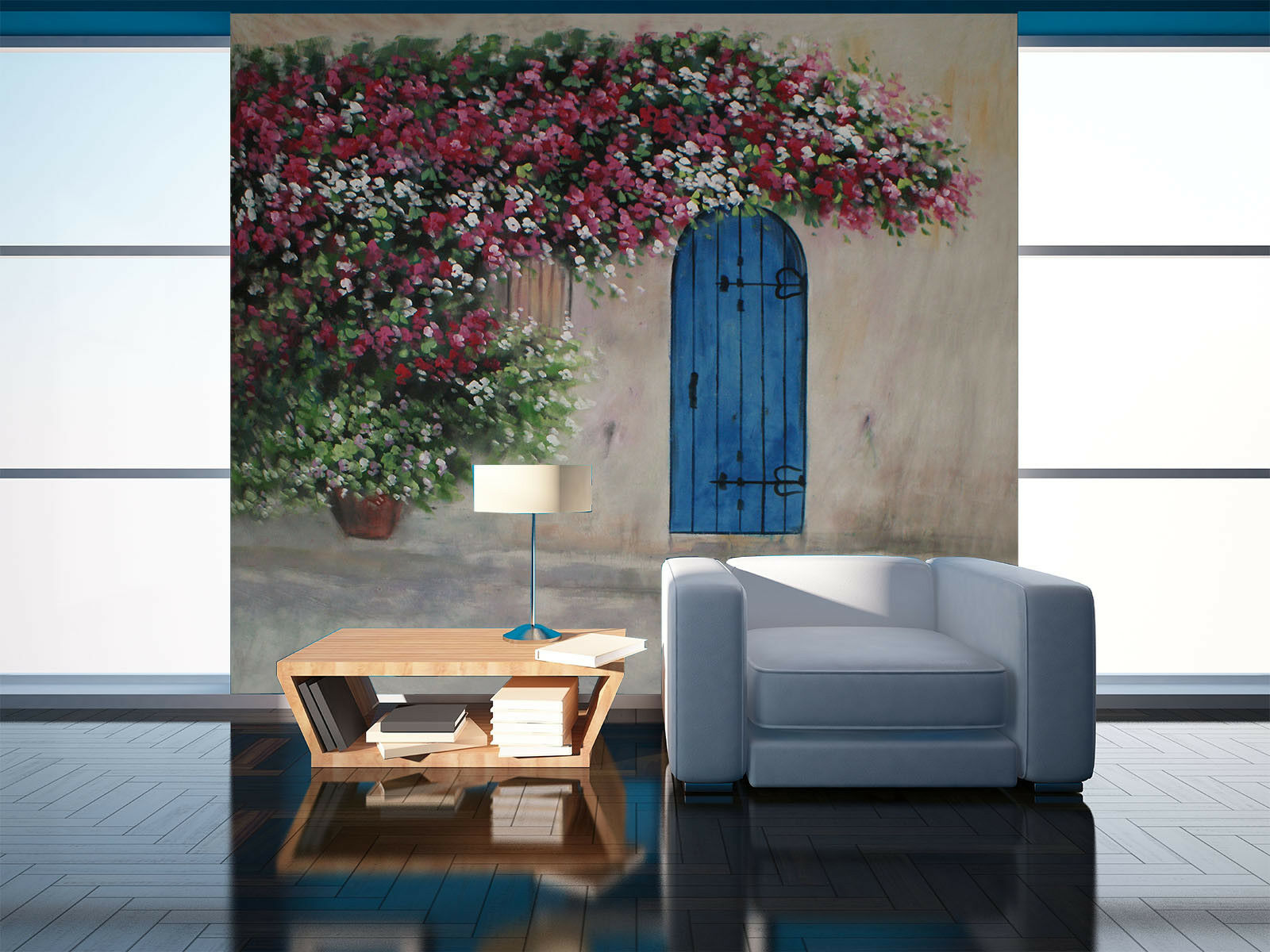 3D Flower Vine Door 414 Wall Paper Wall Print Decal Wall Deco Indoor Mural Carly