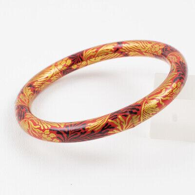 Fashion Bracelet Black /& Orange Plastics Clear Rhinestone Cuff