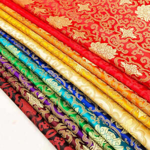 Chinese-Han-costume-Jacquard-Silk-Kimono-Brocade-Fabric-Rich-Flowers-Thick-Style