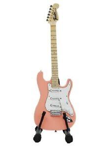 Baby-Axe-Miniature-Guitar-BA01-STRATOCASTER-Pink-Cream-White-Blue-Natural