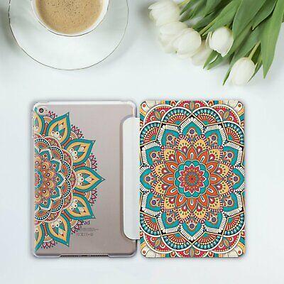 Mandala Case Smart Cover Boho Henna iPad Pro 10.5 Mini 2 3 4 Pro 12.9 Air 2 9.7