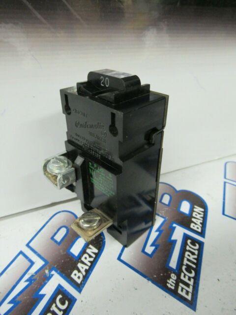 Used Pushmatic  20 Amp Single Pole Circuit Breaker P120