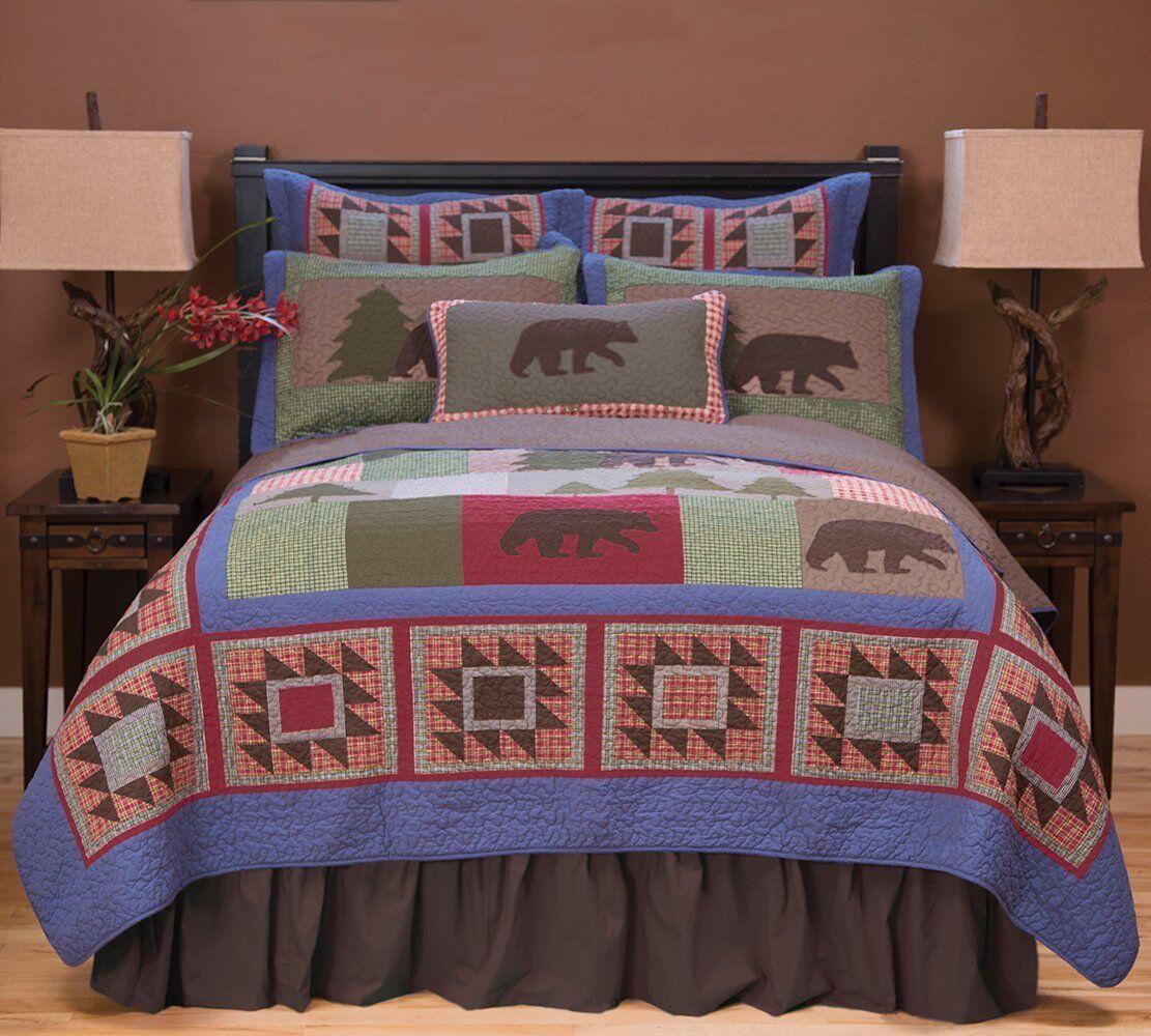 Carstens Bear & Basket Patchwork Comforter Bedding Set FREE Shipping
