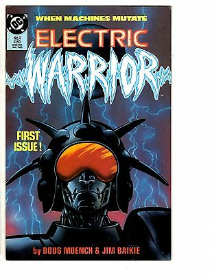 Intellective 5 Electric Warrior Dc Comic Books # 1 2 3 4 5 Doug Moench Jim Baikie Robot Wt14 Matching In Colour Other Bronze Age Comics