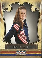 Katie Hoff. OLYMPIC SWIMMER 2011 Panini Trading Card #77. In Protective Sleeve.