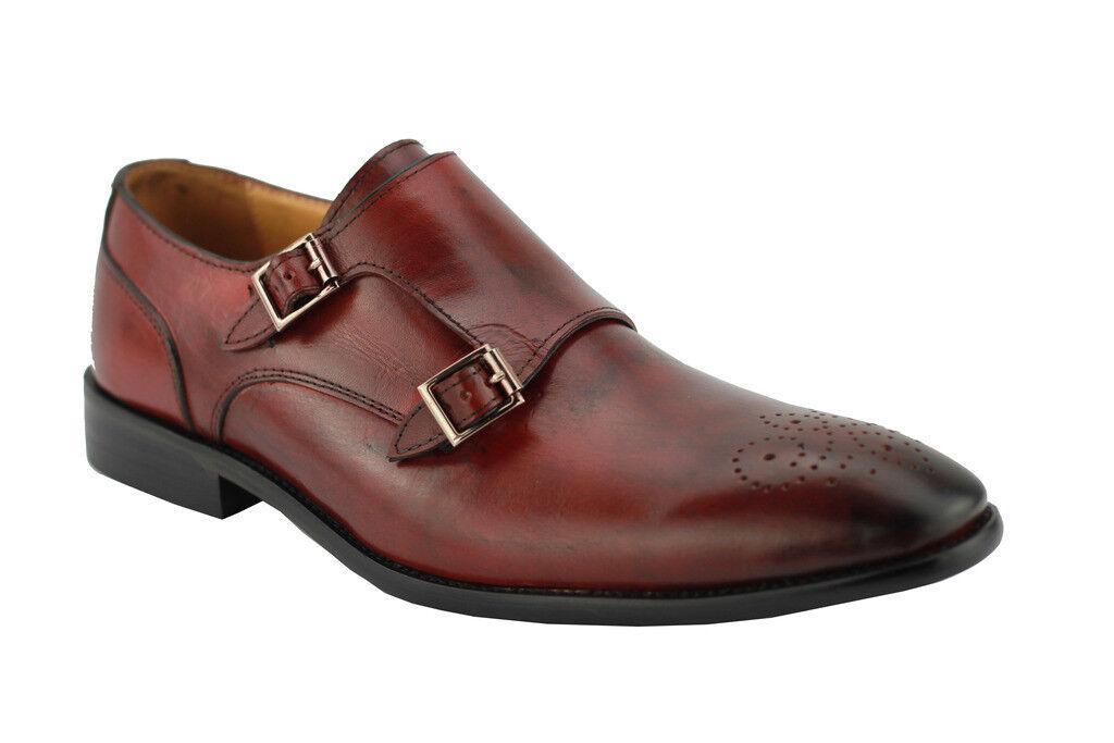 Piel de hombre, Color castaño, cinturón Monk, zapatos inteligentes, Lafleur.