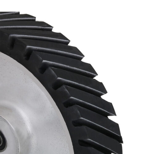 """12/"""" 300mm Serrated Rubber Bearing Contact Wheel for Belts Sander Polishing Metal"""