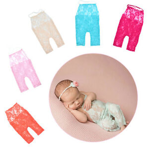 f1560826b0b4 Image is loading Newborn-Baby-Girl-Lace-Floral-Romper-Bodysuit-Photo-