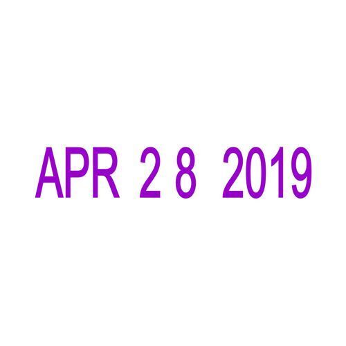 1 Of 2FREE Shipping Small Date Stamp Trodat 4810 Month Day Year Format Purple Ink