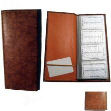 Genuine Leather 160 Cards Business Credit Card Holder Book Case Keeper Organizer