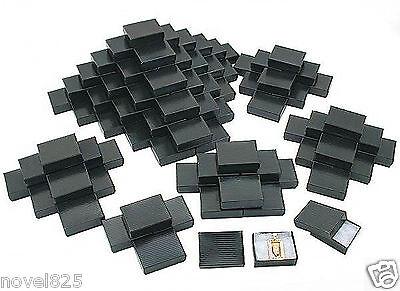 Black Stripe Cotton Filled Jewelry Gift Box | 100 pcs