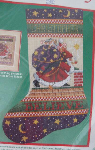 Dimensions Needlepoint Stocking Kit Believe Mary Engelbreit Christmas 9079