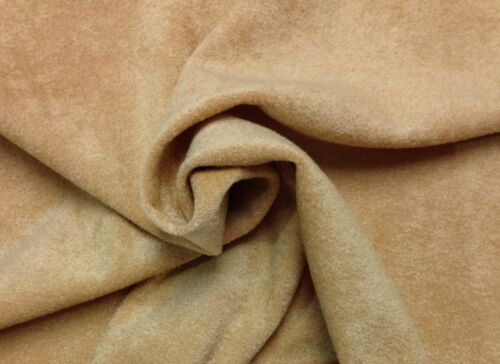"REGAL CLEOPATRA BEIGE HEAVY SOLID WOVEN SOFT FURNITURE FABRIC BY THE YARD 57/""W"