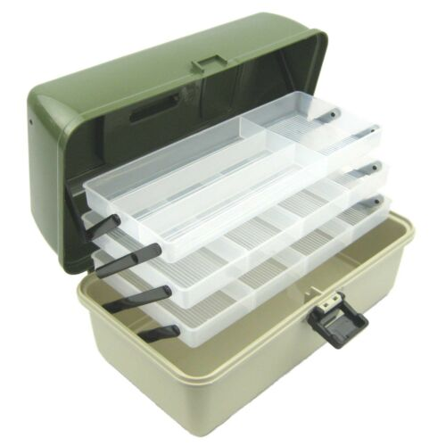 3 TRAY CRAFT STORAGE CANTILEVER BOX SEWING EMBELLISHMENT PAINTS ART ARTISTS BOX