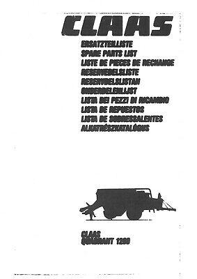 Markant Claas Baler Constant Trabant Workshop Service Manual Dominant