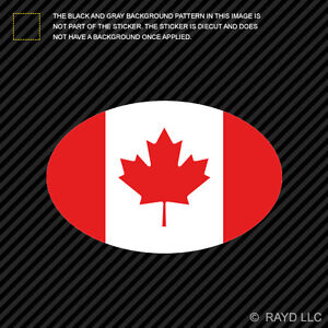"Flag of Canada Sticker Car Canadian Decal Vinyl Emblem 2/"" x 2.5"""