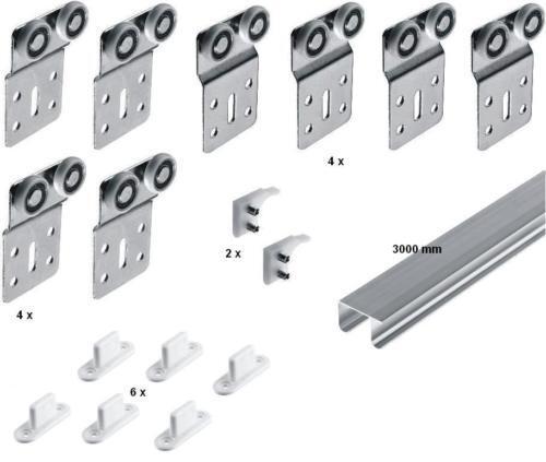 Schwebetüren  Trennwand   Raumteiler   Bausatz für 4 Türen bis jeweils 50 kg | Sonderpreis  | Merkwürdige Form  | Beliebte Empfehlung  | Bunt,